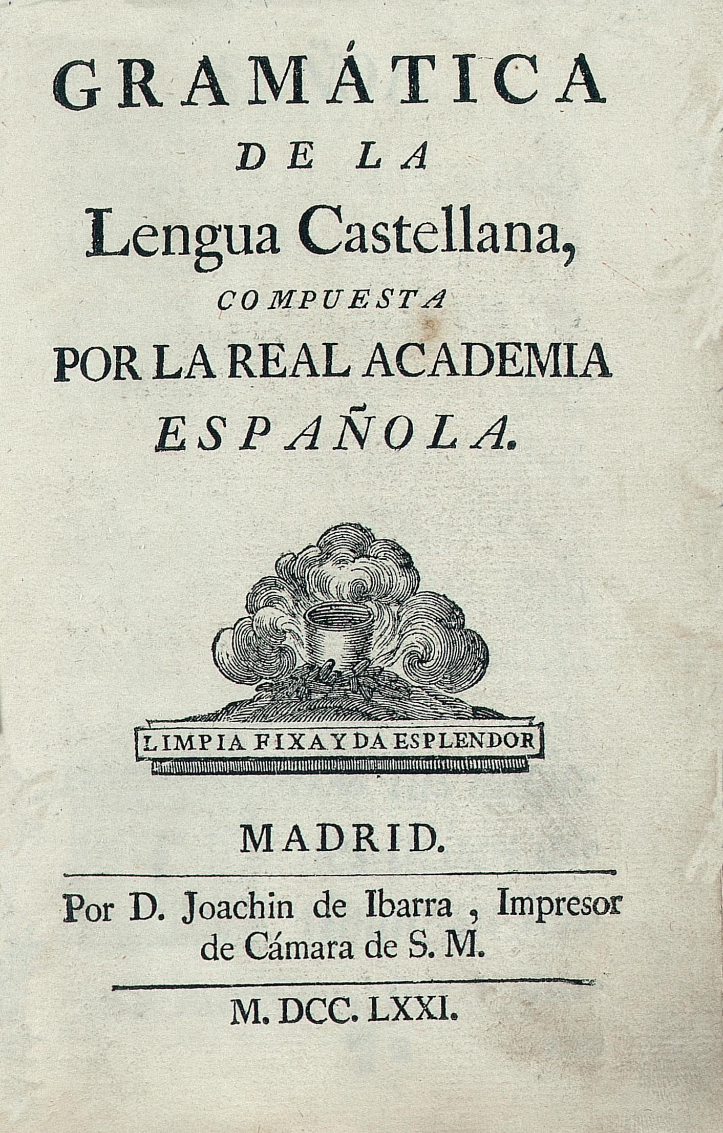 Gram U00e1tica De La Lengua Castellana