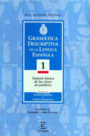 Gramática descriptiva Bosque